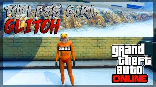 """GTA 5 Online: NEW """"FULLY NAKED/TOPLESS FEMALE 1.24/1.23"""" NAKED BOOBS GLITCH (GTA 5 Topless Glitch)"""