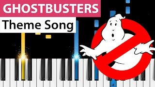 Download Lagu Ghostbusters (Theme Song) -  Piano Tutorial Gratis STAFABAND