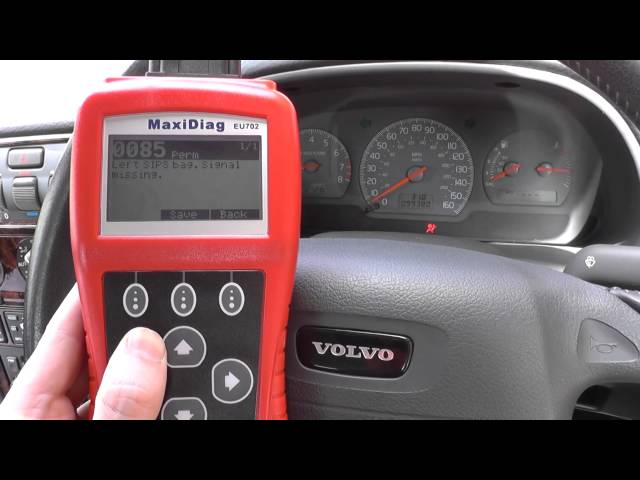 Clear A Volvo Airbag Warning Light With the EU702 Diagnostic Tool