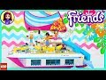 Lego Friends Sunshine Catamaran Build Part 1 Review Silly Play Kids Toys
