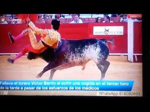 Toro mata al torero Víctor Barrio 9 de Julio de 2016