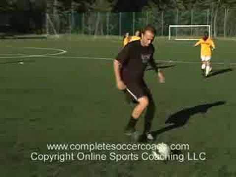 Dribbling Soccer Ball Dribbling a Soccer Ball