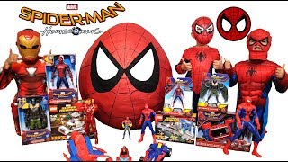 🕷Spiderman Home Coming Giant Toys & Lego Surprise Egg
