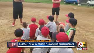 Kids wear fallen soldiers' names on jerseys