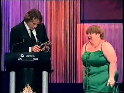 Heath Ledger & Sharon Strzelecki at the AFI Awards 2006