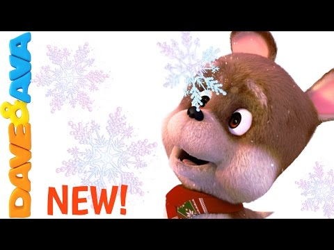 Ten Little Snowflakes | Winter Song for Kids |Christmas Songs and Nursery Rhymes from Dave and Ava