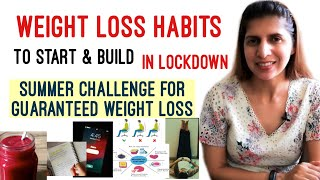 Daily Weight Loss Habits to Start & Build in LockDown | May Challenge for Guaranteed Weight Loss