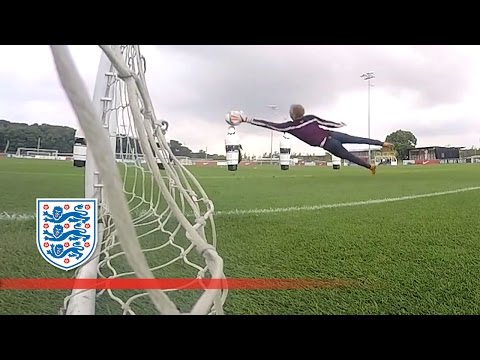 Behind the goal with England Goalkeepers (Joe Hart) | Inside Training