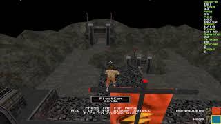 Jimmy Supafly Snuka off the Top Turnbuckle on The Pit Quake 2 CTF RailwarZ