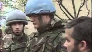 BOSNIA AHMICI  BRITISH TROOPS SHOT AT CROATS 27.4.93