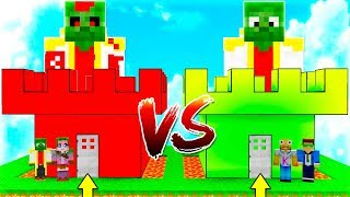 MANUCRAFT CASTLE VS MANUCRAFT.EXE! 🏰😱 MINECRAFT BATTLE OF CASTLES