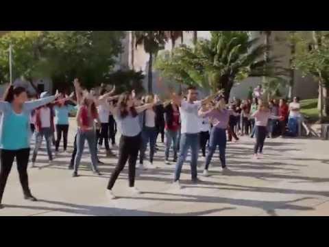 Flashmob contra la violencia de género - Plan de coeducación IES Politécnico Jesús Marín de Málaga