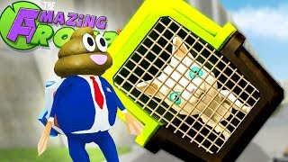 CAN WE MAKE A GIANT CAGED CAT?  - Amazing Frog Gameplay - Amazing Frog Magic Toilet