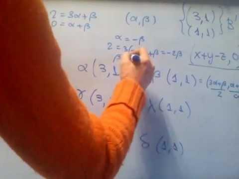 ÁLGEBRA -- Cómo hallar la matriz asociada a una aplicación lineal en dos bases dadas, B y B'