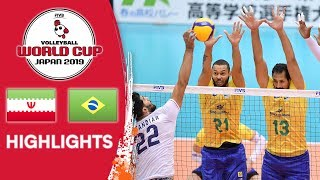 IRAN vs. BRAZIL - Highlights | Men's Volleyball World Cup 2019