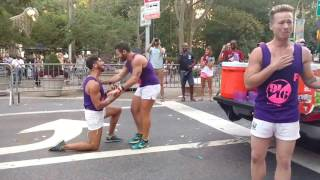 "FLAGGOTS NYC 2016 Marriage proposal and ""He said YES"" !!!"
