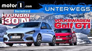 Hyundai i30N vs. VW Golf GTI Performance | UNTERWEGS mit Daniel Hohmeyer