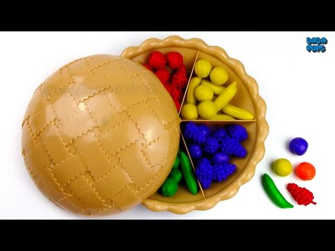 Learn Colors Fruits Sorting Pie|Learn Colors Counting Sorting Fruits for Preschool|Learn Colours