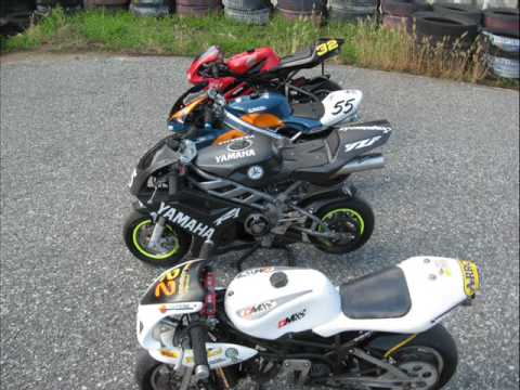 mini moto 50 cc vs 600 cc crazy minibike stunts and race. Black Bedroom Furniture Sets. Home Design Ideas