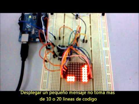 Matriz de led 8x8 controlada con arduino y max7219