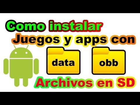 Instalar aplicaciones con archivos en carpetas obb y data Android