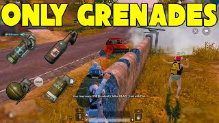 Only Throwables ( Grenades , Moltov , Stunt , Smoke ) Challenge || 17 Kills In Pubg Mobile