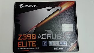 Z390 AORUS ELITE Motherboard Unboxing
