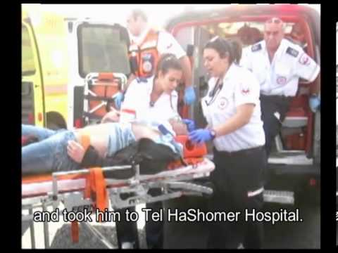 The emotional meeting between Paramedic Yossi Levi and the patient he saved