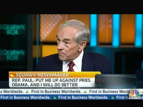 Ron Paul on Gold Standard & Paper Money's Moral Hazard CNBC Squawk Box 4/23/12