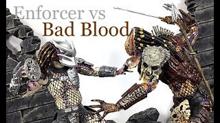 Neca Toys PREDATOR 2 Pack BAD BLOOD vs ENFORCER Action Figure Toy Review