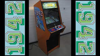 "Arcade Video Game Cabinet Restoration NSM Top Game Capcom ""1942"""