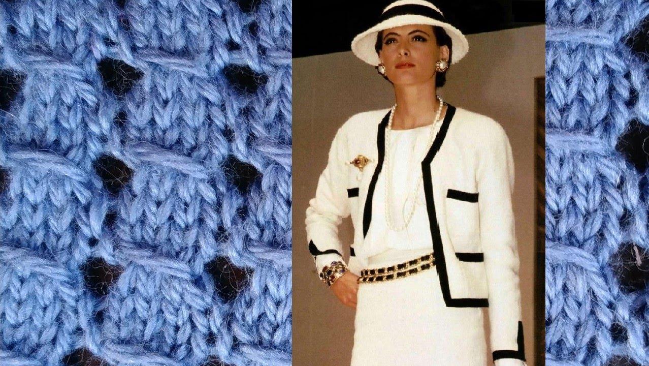 Узор для вязания спицами с протяжками