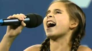 U.S. Open 2009 National Anthem - Carly Rose Sonenclar