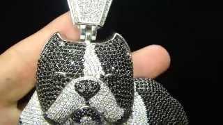 Bulls Eye Bull Dog Custom Design Pendant by Mr Chris Da Jeweler