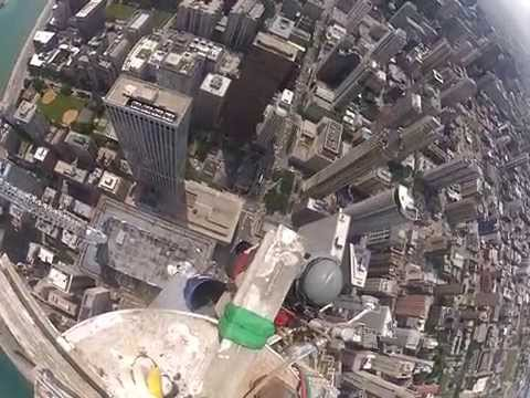 Starting Removal Of John Hancock Building West Antenna video