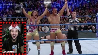 WWE Smackdown 12/27/16 Tag Team Championship 4 Corners Match