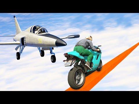 MOTORLA UÇAKDAN KAÇMAK (GTA 5 Online Komik Anlar)