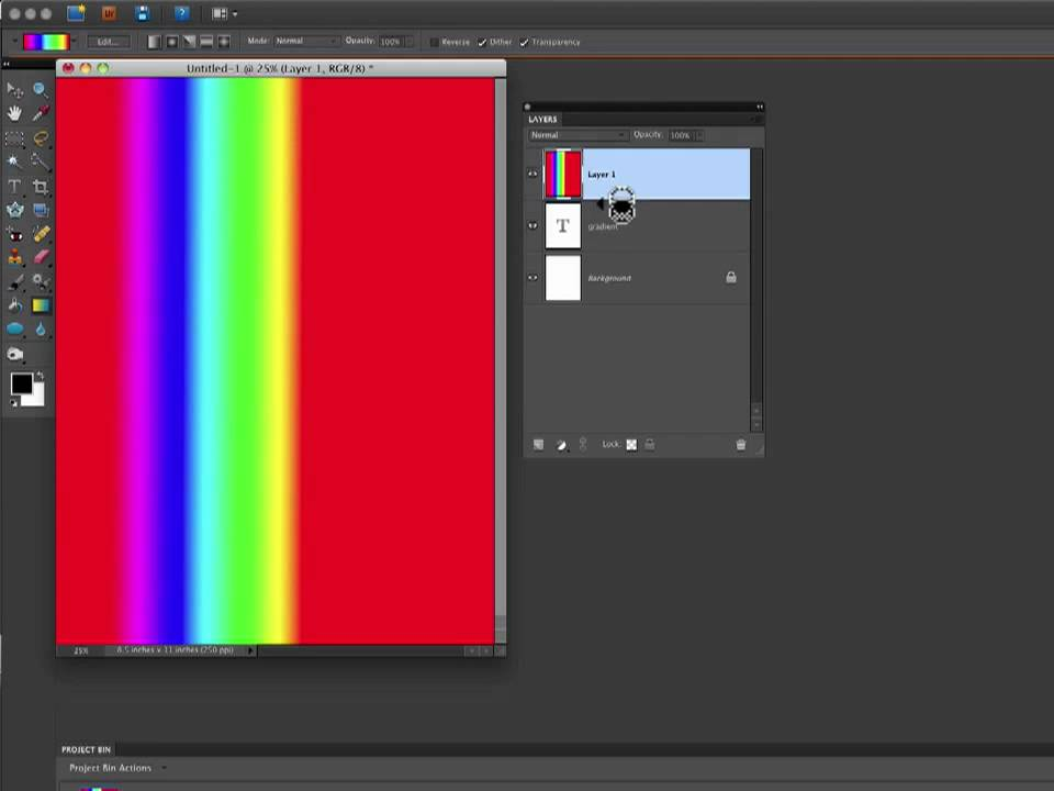 how to add gradient on text in photoshop