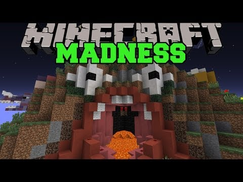 Minecraft: MADNESS ROLLERCOASTER (RANDOM AND SCARY AREAS!) Map
