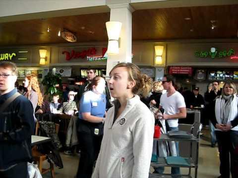 NDSU Concert Choir Flash Mob - West Acres Mall, Fargo -  Bison Arts