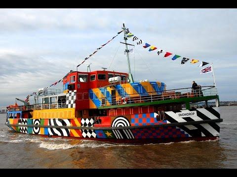 River Mersey Razzle Dazzle Ferry On Board