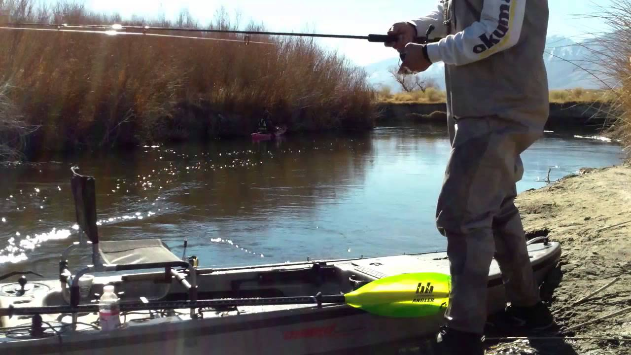 Owens river kayak fishing youtube for Owens river fishing report