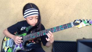 Tender Surrender by Steve Vai cover Ayu Gusfanz (9 Years Old Indonesian Guitarist)