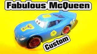 Pixar Cars 3 Fabulous Lightning McQueen Custom Paint Job with Primer McQueen from Pixar Cars