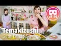 Temakizushi (Hand Rolled Sushi) Recipe   VR180 Cooking   Create Eat Happy :)
