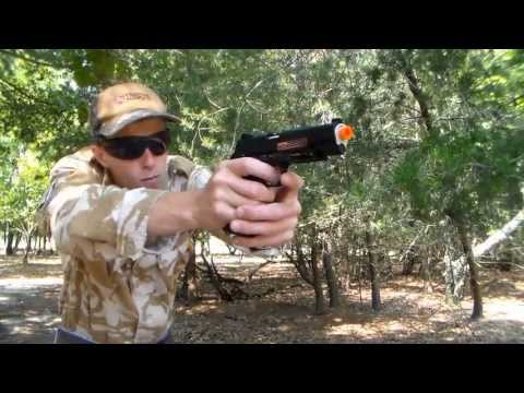 BlackWater BW1911 R2 CO2 BlowBack Airsoft Pistol Chrono/Shooting Test