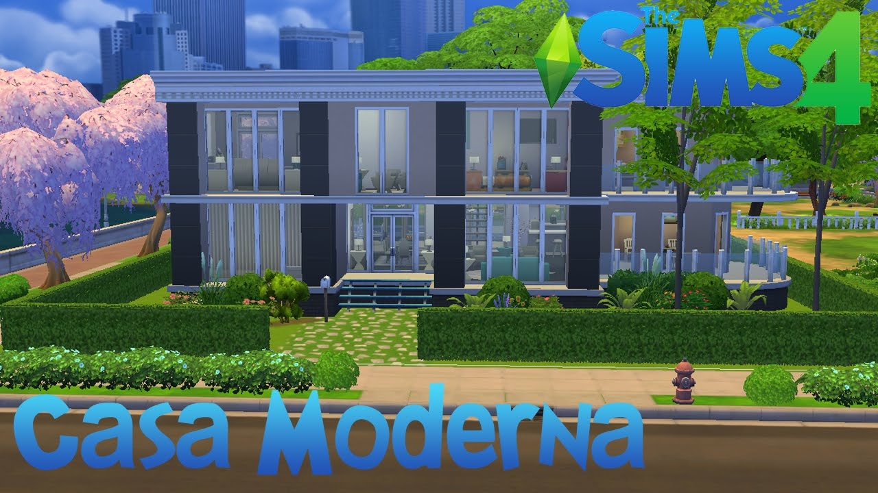 The sims 4 casa moderna youtube for Casas modernas the sims 4