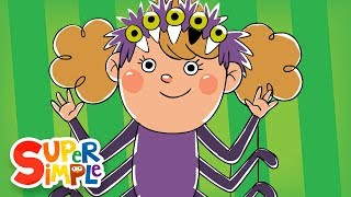 Five Creepy Spiders | Halloween Song | Super Simple Songs