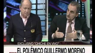 "Canal 26 -EXCLUSIVO en ""Chiche en vivo"" Guillermo Moreno-Parte 2"