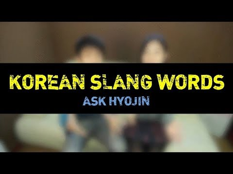 [ask Hyojin] Korean Slang Words (part 1 2) video